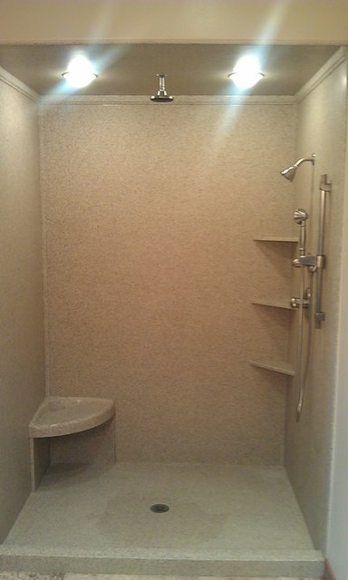 Marble Works Cultured Shower Traditional