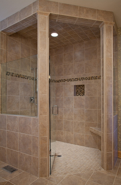 Master bathroom shower - Traditional - Bathroom - Other ...