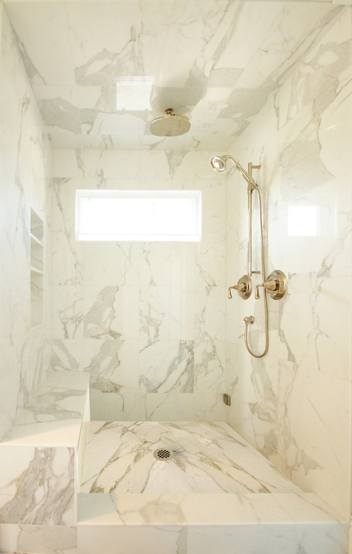 cultured marble shower walls vs real marble shower walls