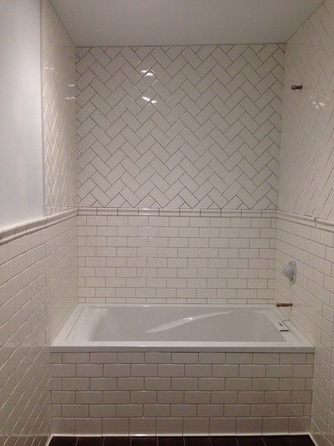Subway Tile Bathroom Traditional New York