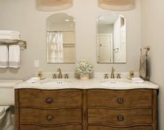 Bathroom Vanities Against Wall With Original Innovation