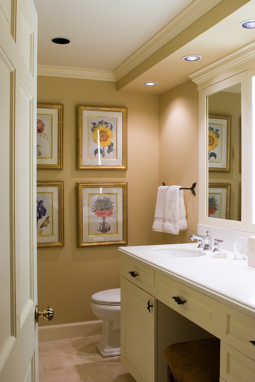 Nice look! What is the size of the recessed lights above the sink ...