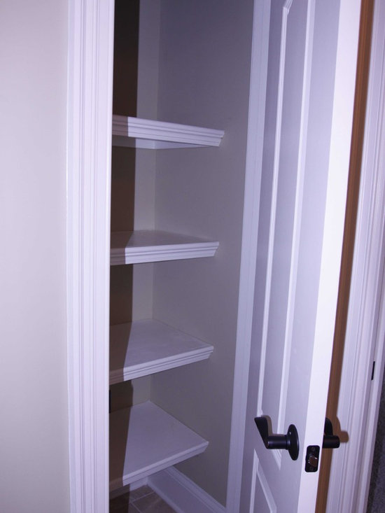 Closet shelves bathroom design ideas pictures remodel for Bathroom closet remodel