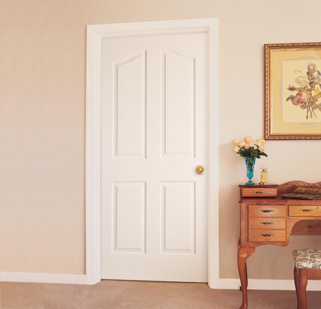 4 Panel Arch Top Interior Door Traditional Bathroom