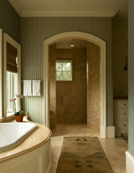Curved Sunken Bath Tub traditional bathroom