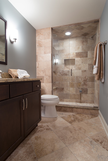 Cozy Home Theater - Traditional - Bathroom - other metro ...