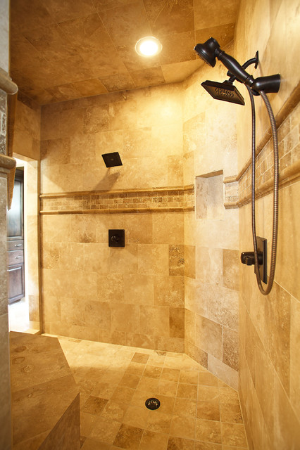 Master Bath Shower - traditional - bathroom - houston - by Karen ...