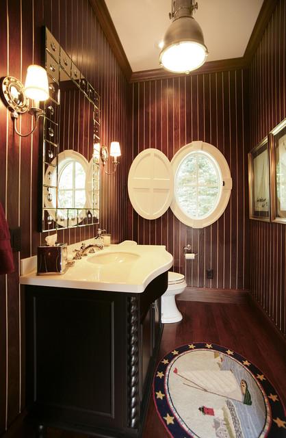 Teak Powder Room Traditional Bathroom Other By