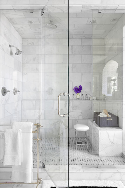 why marble might be wrong for your bathroom - White Marble Tile Bathroom