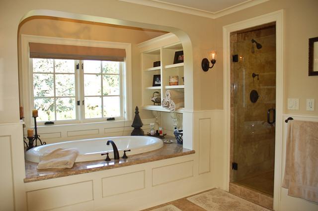 Traditional bathroom for Master bathroom garden tub