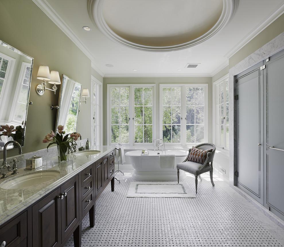 Elegant freestanding bathtub photo in San Francisco