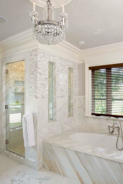English Country House in Mid-Country Greenwich traditional bathroom