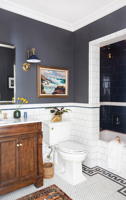 Silverlake Full Home Design Traditional Bathroom Los Angeles By Stefani Stein