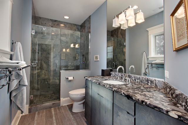 Master Bathroom Knee Wall frameless shower pony wall | houzz
