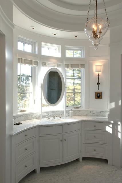 Shingle-Style Lake Home traditional-bathroom
