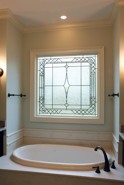 Decorative Glass Windows Traditional Bathroom Raleigh By DSA Master C