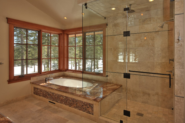 Master Tub and Shower traditional-bathroom