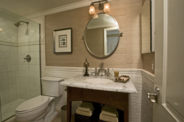 Traditional Bathroom By Zuniga Interiors Wall Treatments An Ideabook By Barbara Carithers