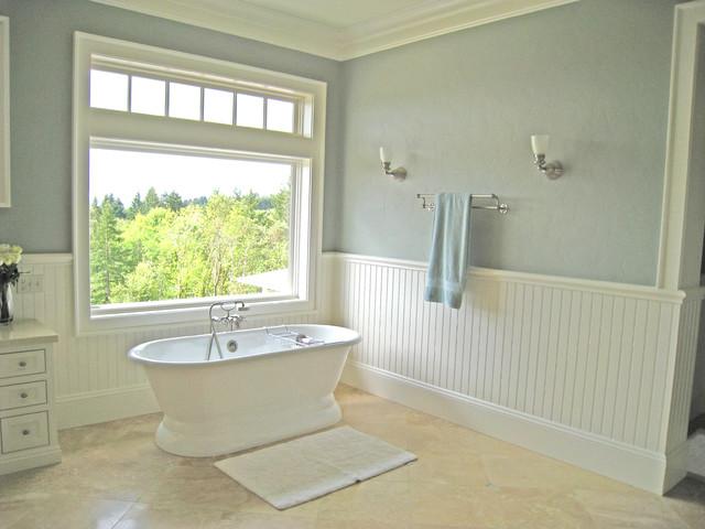 bathroom traditional bathroom idea in portland - Country Bathroom