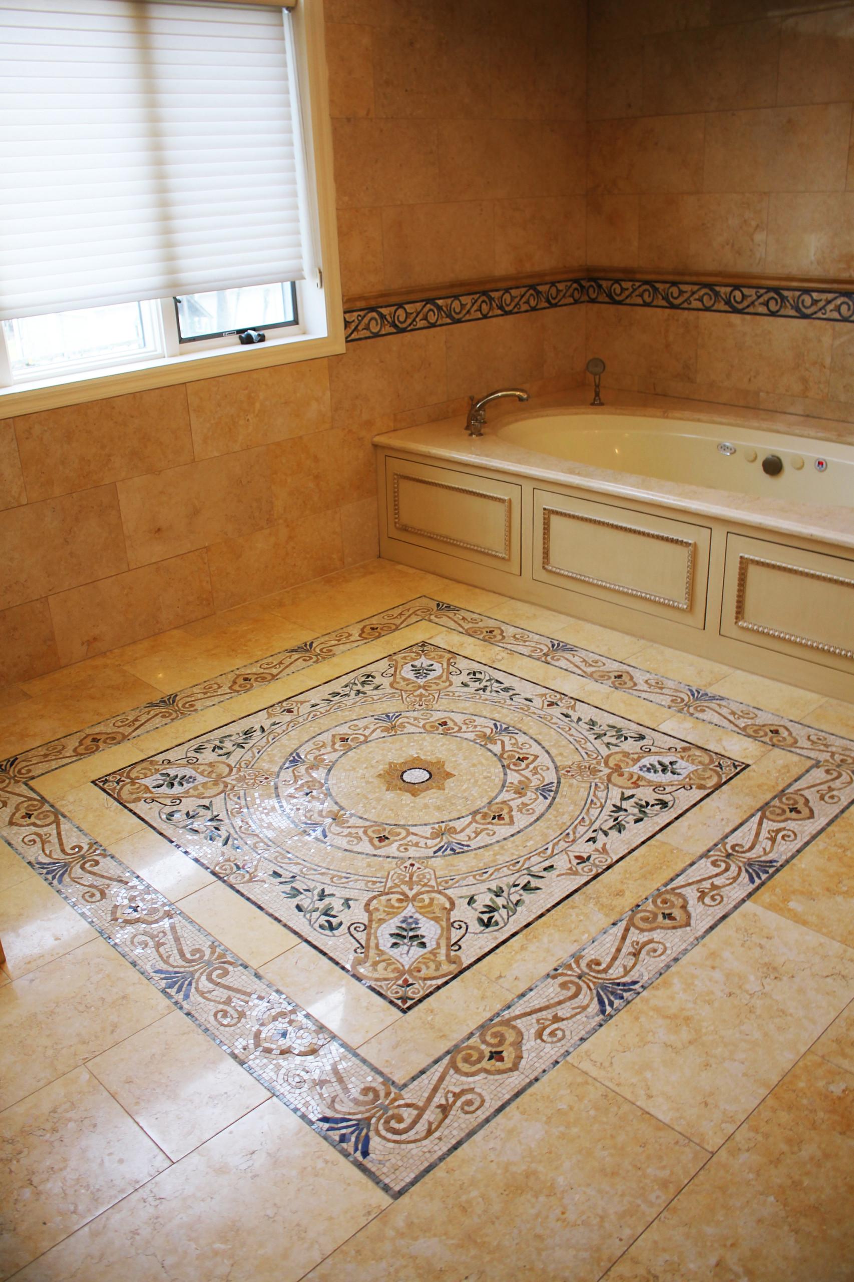 Traditional Custom mosaic, NY Home