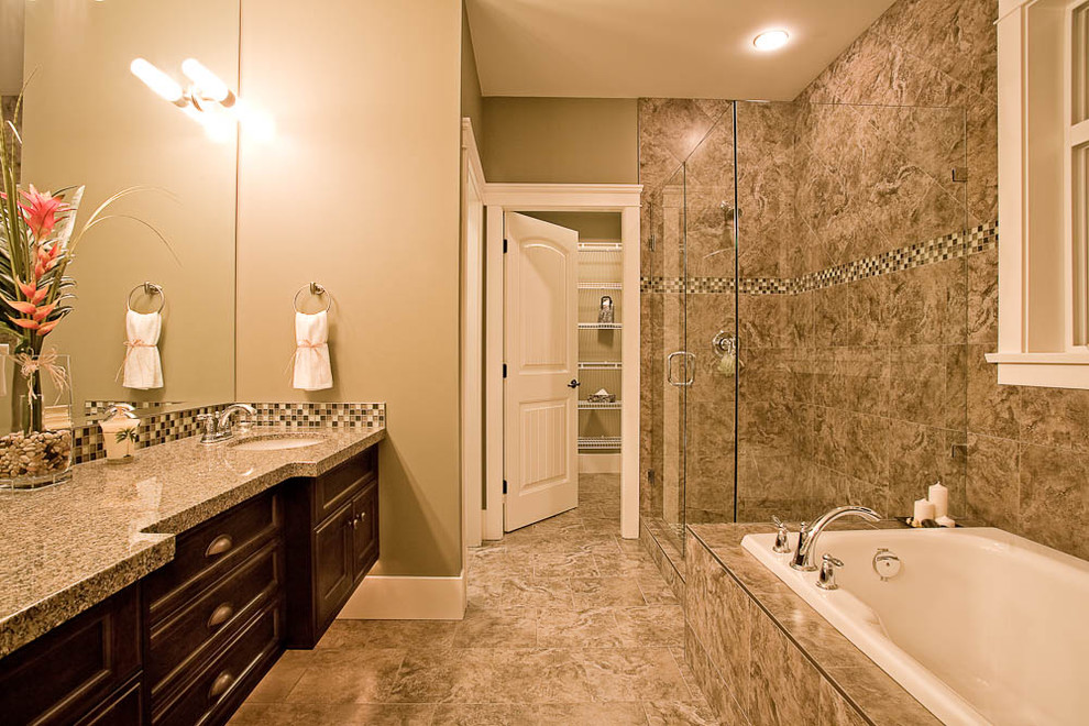 Inspiration for a timeless mosaic tile bathroom remodel in Vancouver