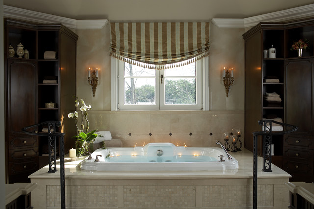 Traditional French Country Master Bathroom - traditional