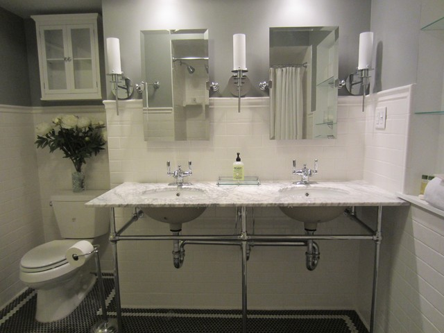 white and grey bathrooms traditional grey gray and white bathroom with carrara 21392