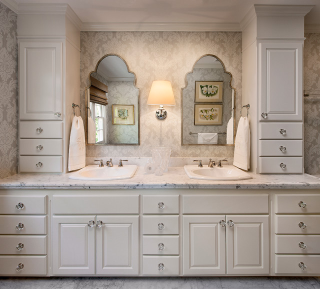 traditional home in montecito traditional bathroom - Bathroom Cabinets Knobs