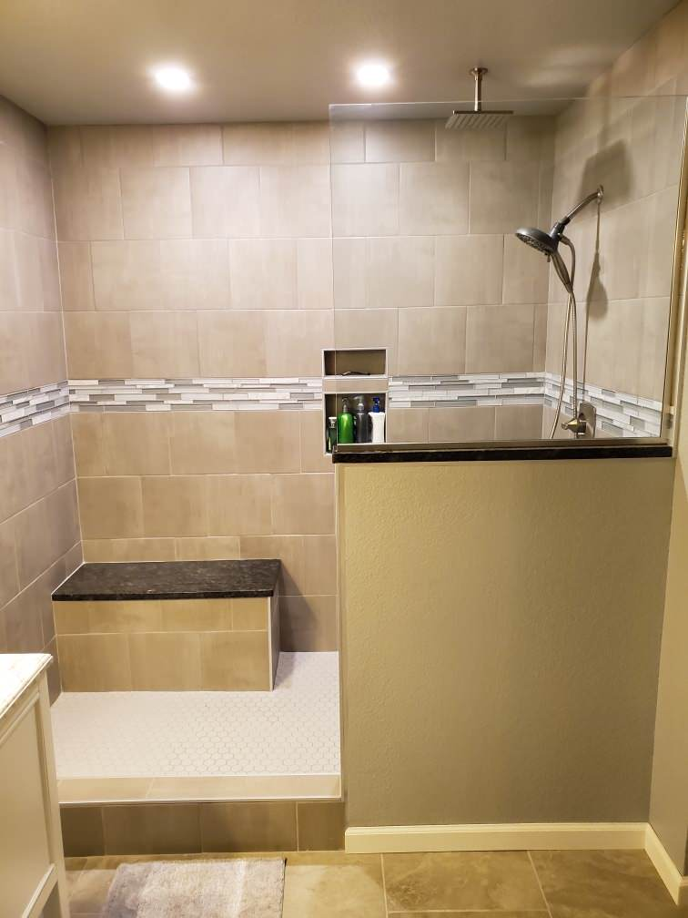 Traditional Master Bath For Aging In Place