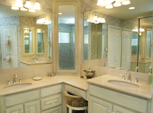 What Are The Dimensions Of The L Shaped Vanity Sink To Sink
