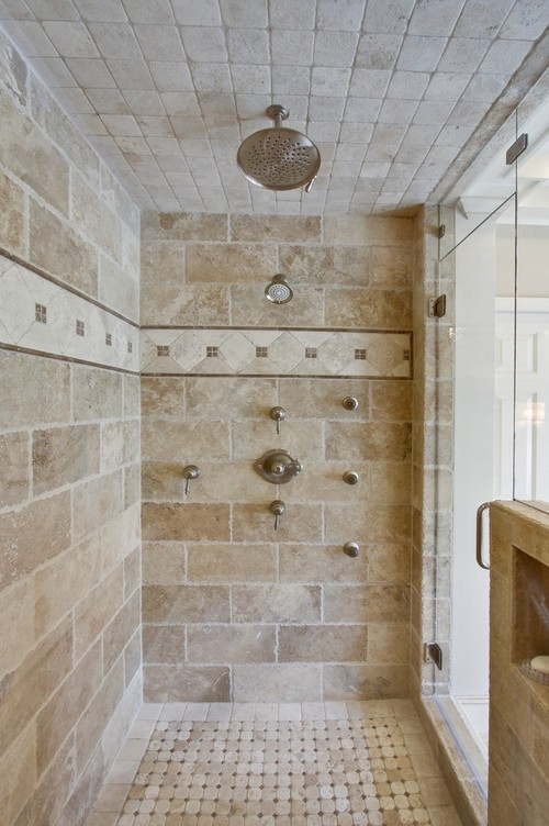 Master bathroom and kitchen cost Shower tile layout