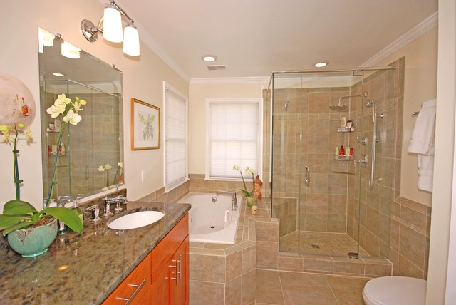 Traditional Master Bathroom Remodel Alexandria VA Traditional Bathroom