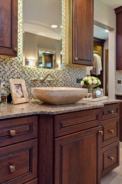 Traditional Modern Twist Traditional Bathroom Chicago By Ashley Avery Palmetto Cabinet
