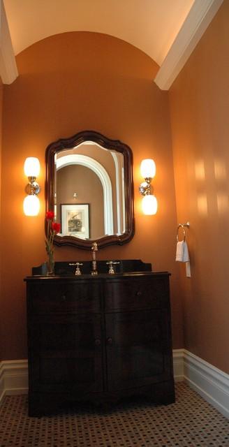 Traditional Powder Room midcentury-bathroom