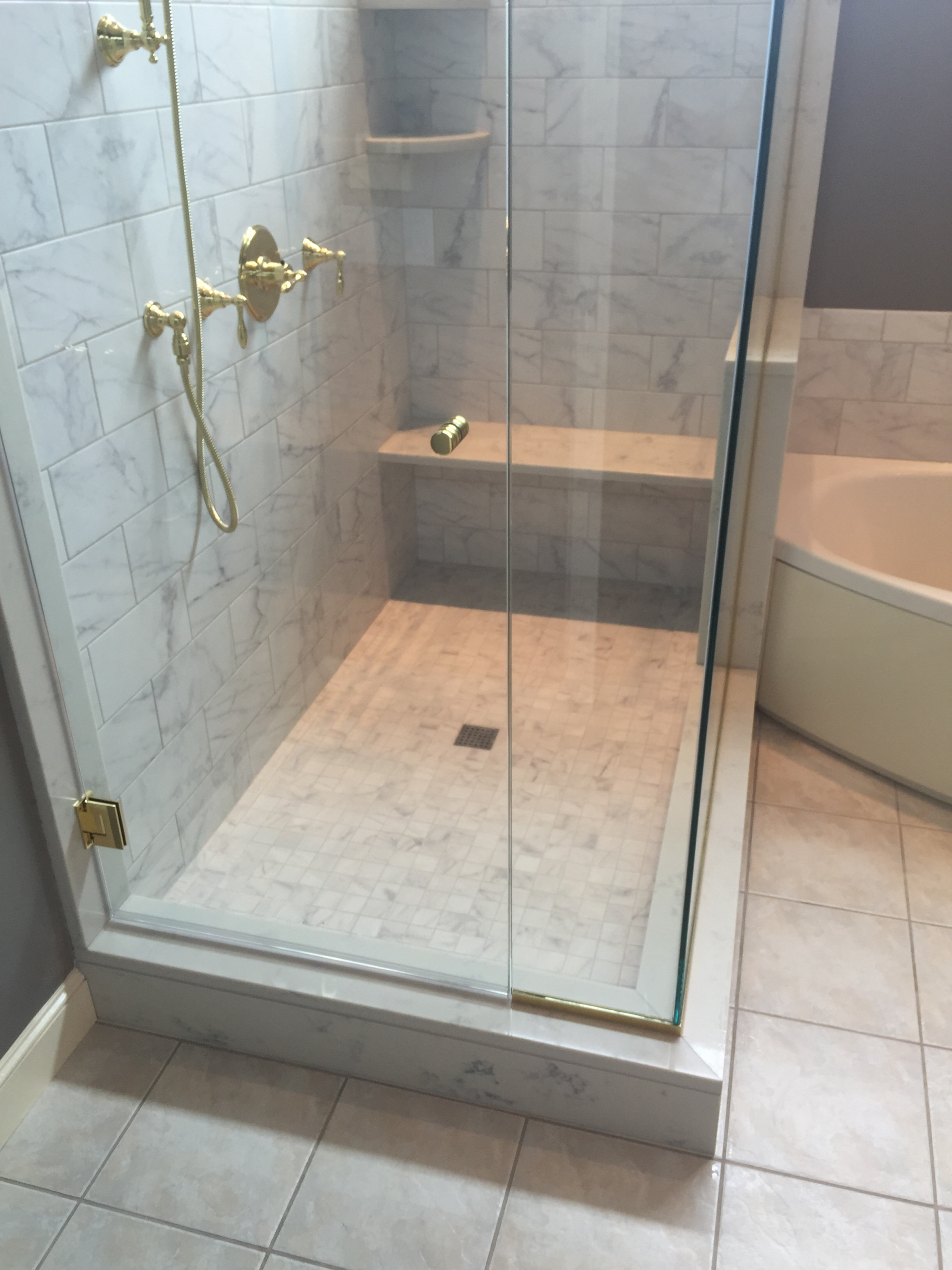 Traditional Quincy Shower remodel.