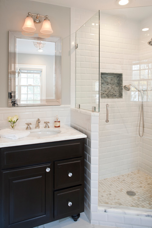. How high is the subway tile wainscot