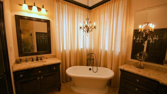 Traditional romantic bathroom remodel for Bathroom remodel 33411