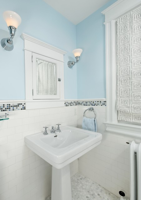Traditional Subway Tile Bathroom Traditional Bathroom