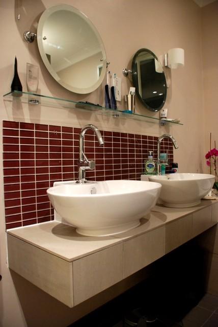 Traditional Touches, Contemporary Textures Bathroom contemporary-bathroom