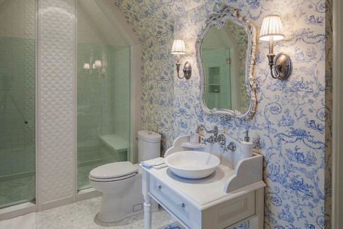 French country bathroom design photos victoriana magazine for A bathroom in french
