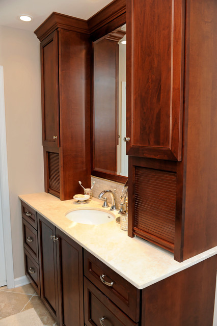 traditional vanity with wood cabinets traditional bathroom other