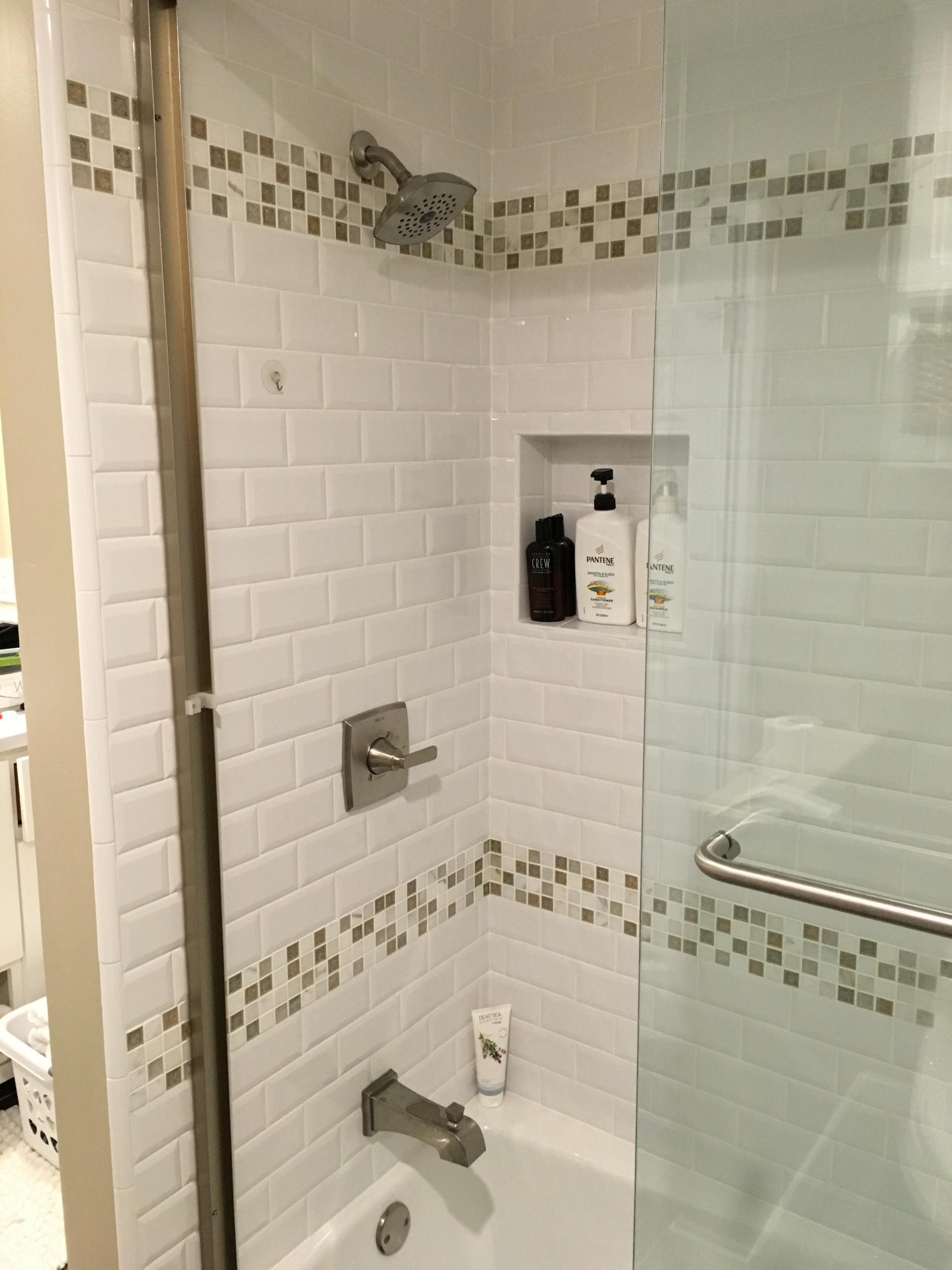 Traditional White Shower-Stockton,CA and Lodi, CA