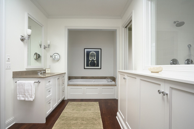 Traditional yet modern master bath traditional for Bathroom remodeling minneapolis mn
