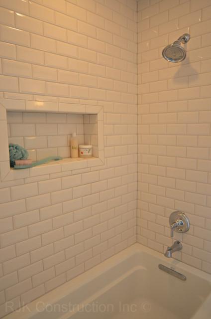 Tranquil Basketweave Bathroom traditional-bathroom