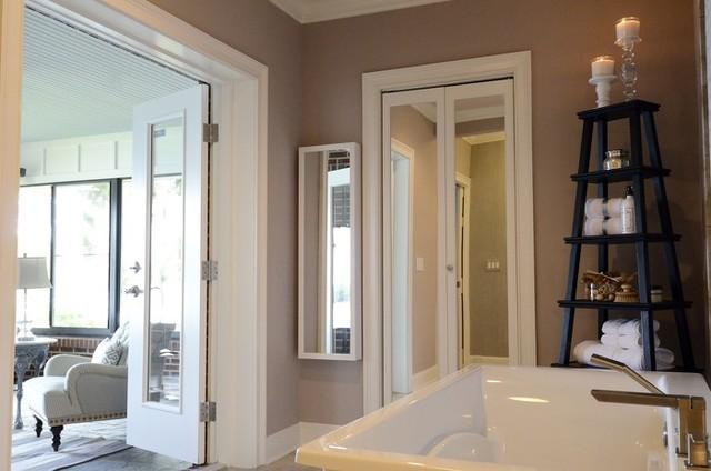 Tranquil master suite renovation bathroom