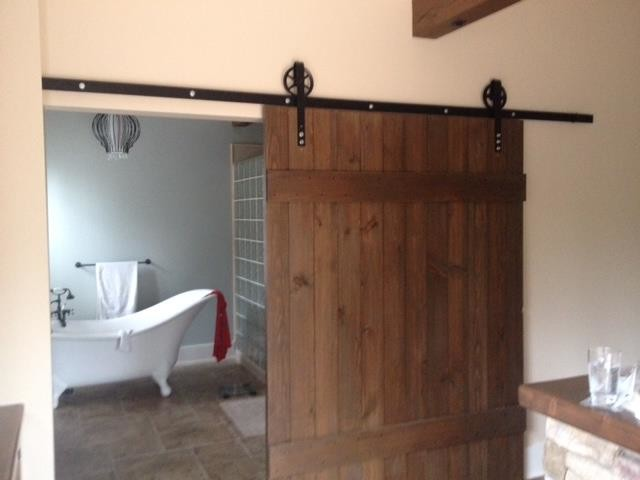 Transitional Barn Door Extra Wide Contemporary