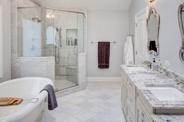 Fashionable Finishes Meet Classic Style - Transitional - Bathroom ...