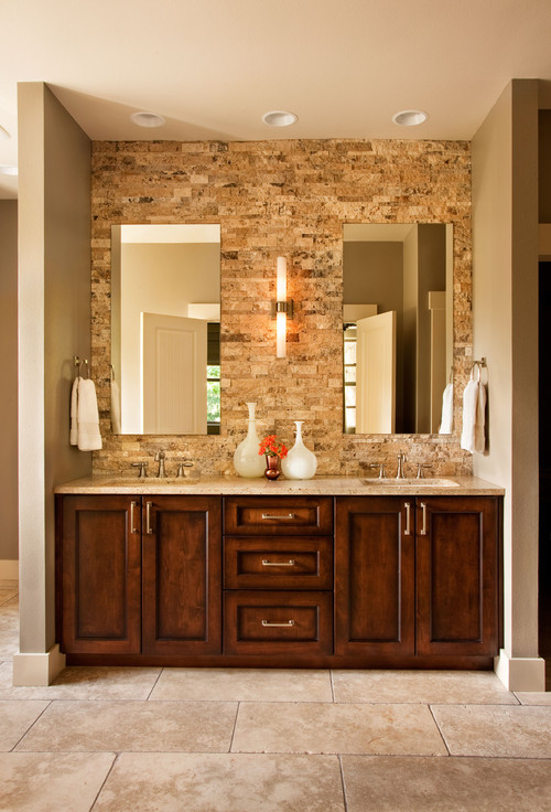 Muebles Para Baño Lowes:Bathroom Vanities with Stone Wall