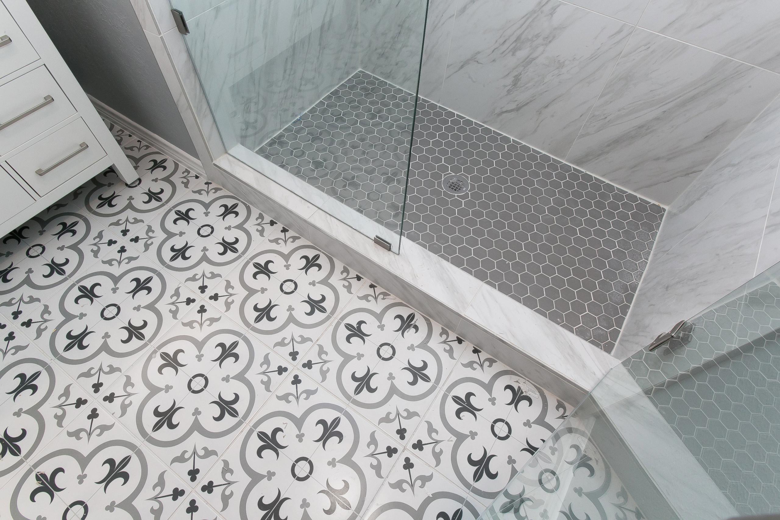 75 Cement Tile Floor Bathroom Ideas You, How To Tile A Bathroom Floor On Concrete