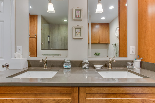 Transitional Bathroom Remodel Cheverly MD By Reico Kitchen Bath Tran